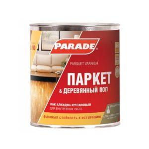 Лак алкидно-уретановый полуматовый PARADE L10 Паркет & Деревянный пол 0,75л