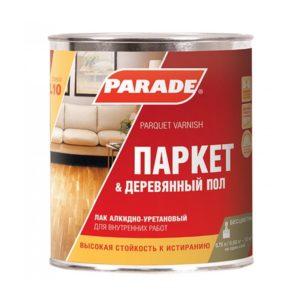 Лак алкидно-уретановый полуматовый PARADE L10 Паркет & Деревянный пол 2,5л