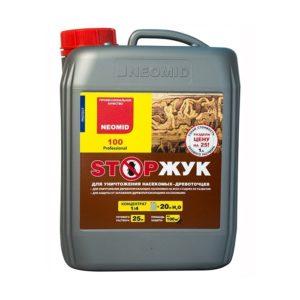 Препарат-концентрат для защиты древесины и уничтожения насекомых-древоточцев NEOMID 100 STOPЖУК 1кг