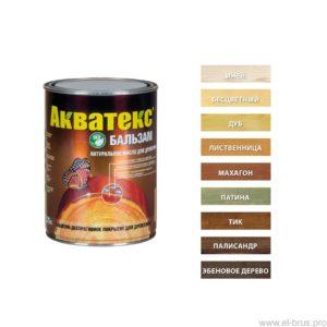 Масло деревозащитное для террас и дерев. полов палисандр АКВАТЕКС Бальзам 0,75л