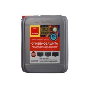 Препарат для огнебиозащиты древесины красный NEOMID 450-1  5кг