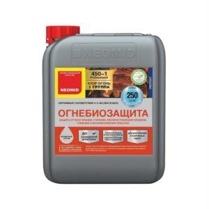 Огнебиозащита для древесины бесцветный NEOMID 450-1 5кг
