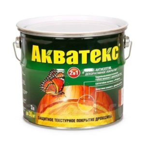 Пропитка защитно-декоративная для древесины рябина АКВАТЕКС 3л
