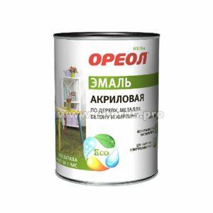 Эмаль акриловая зелёная глянцевая ОРЕОЛ 0,9л