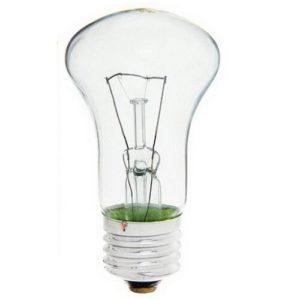 Лампа накаливания гриб прозрачная КАЛАШНИКОВО  Е27 75Вт 220В