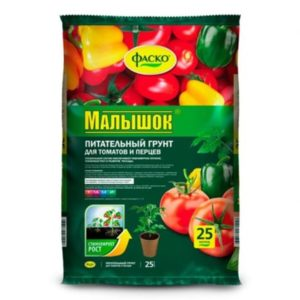 Грунт для томатов и перцев ФАСКО Малышок 25л
