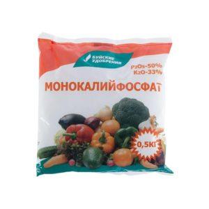 Удобрение монокалийфосфат БХЗ 500г сухой