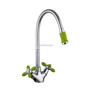 Смеситель д/кухни зеленый FRUD R43127-6