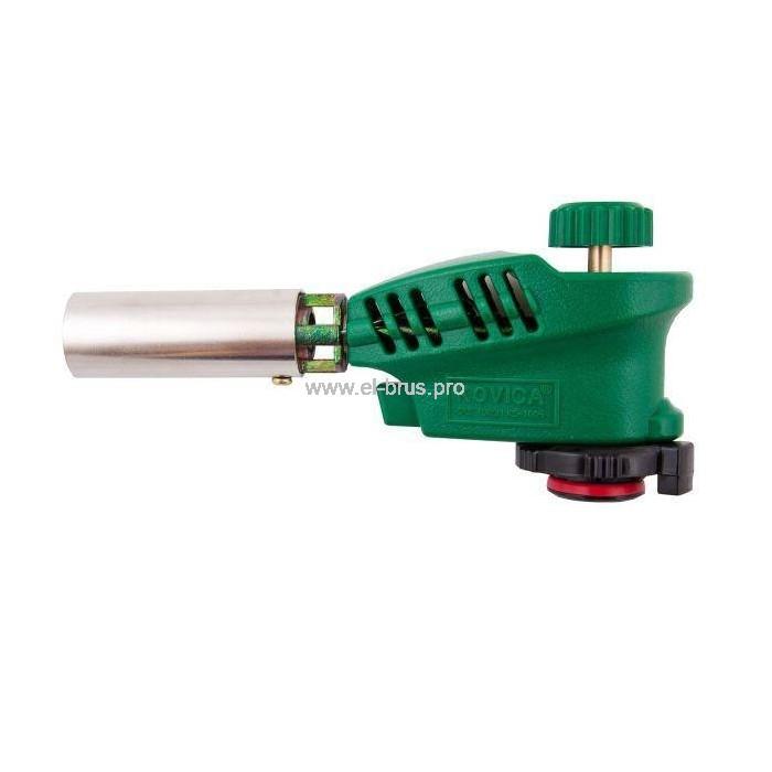 Горелка газовая пьезо зеленая KOVICA KS-1005