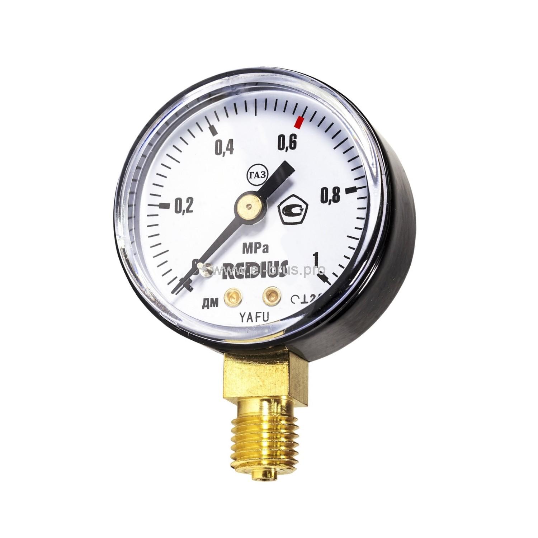 Манометр газовый 1,0МПа РЕДИУС