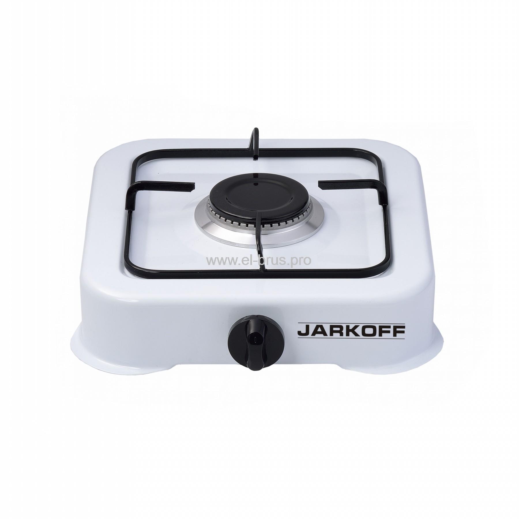 Плита газовая 1-конф. белая JARKOFF JK-7301W