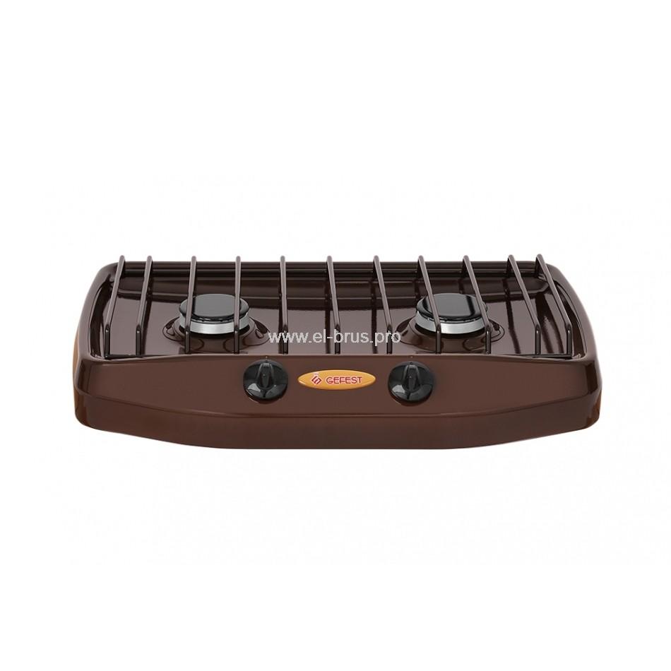 Плита газовая 2-конф. коричневая GEFEST 700-02