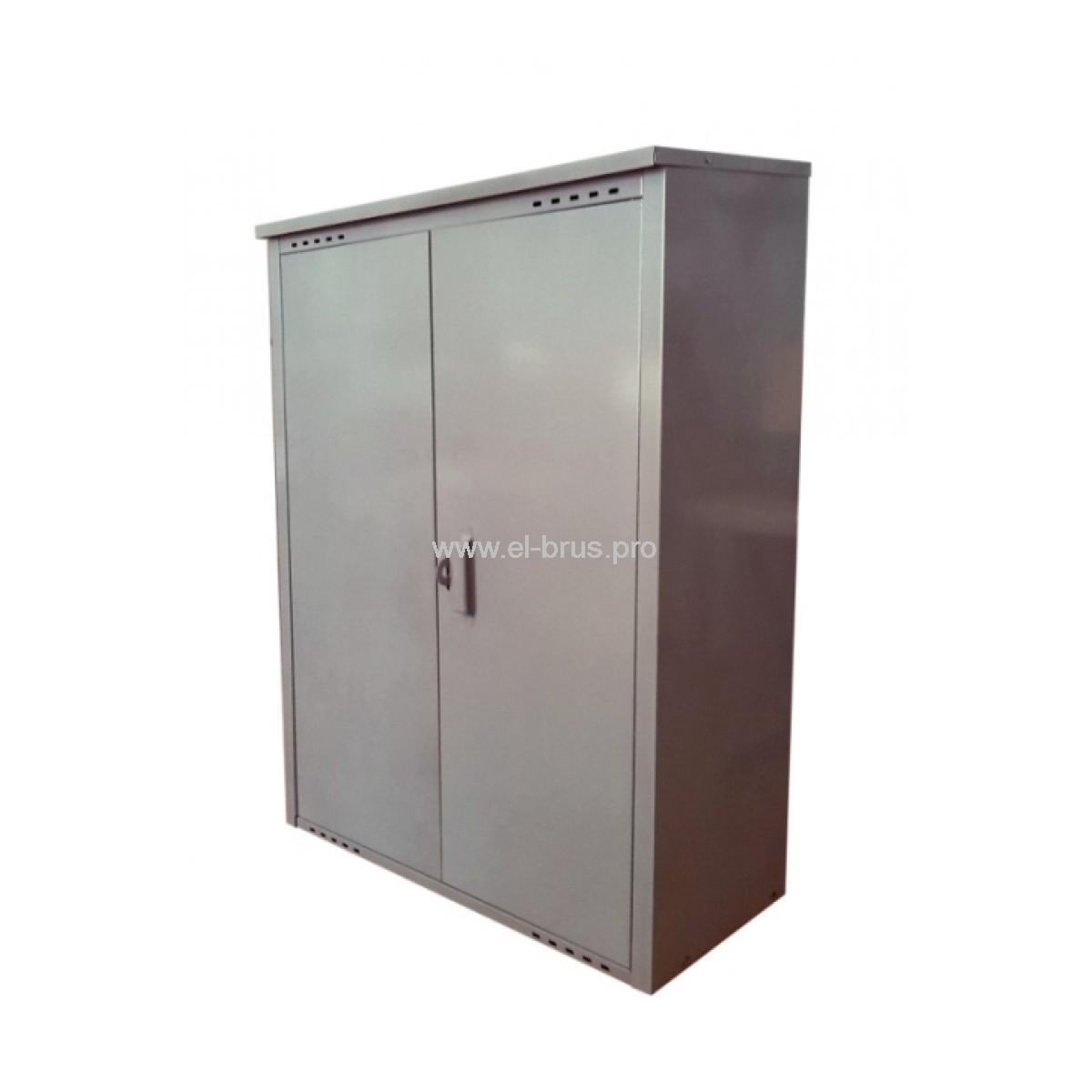 Шкаф для 2 газовых баллонов на 50л серый ПЕТРОМАШ
