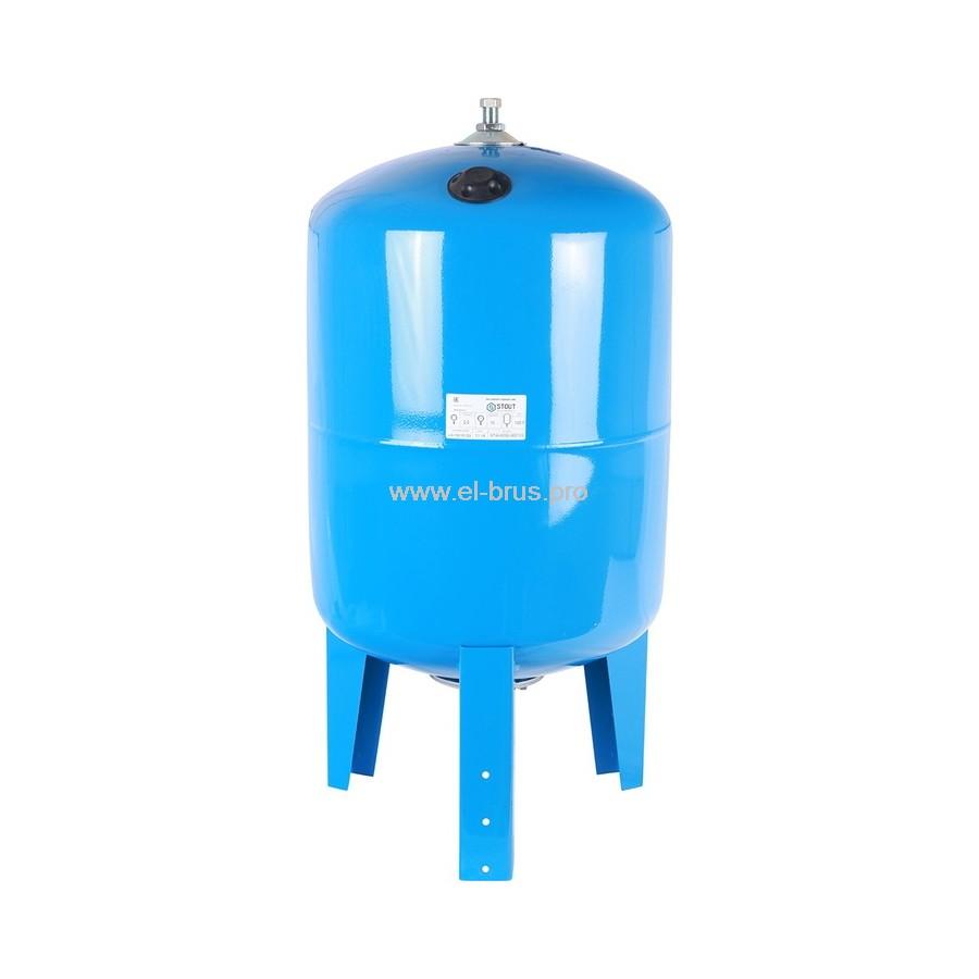 Гидроаккумулятор вертикальный синий STOUT 100л