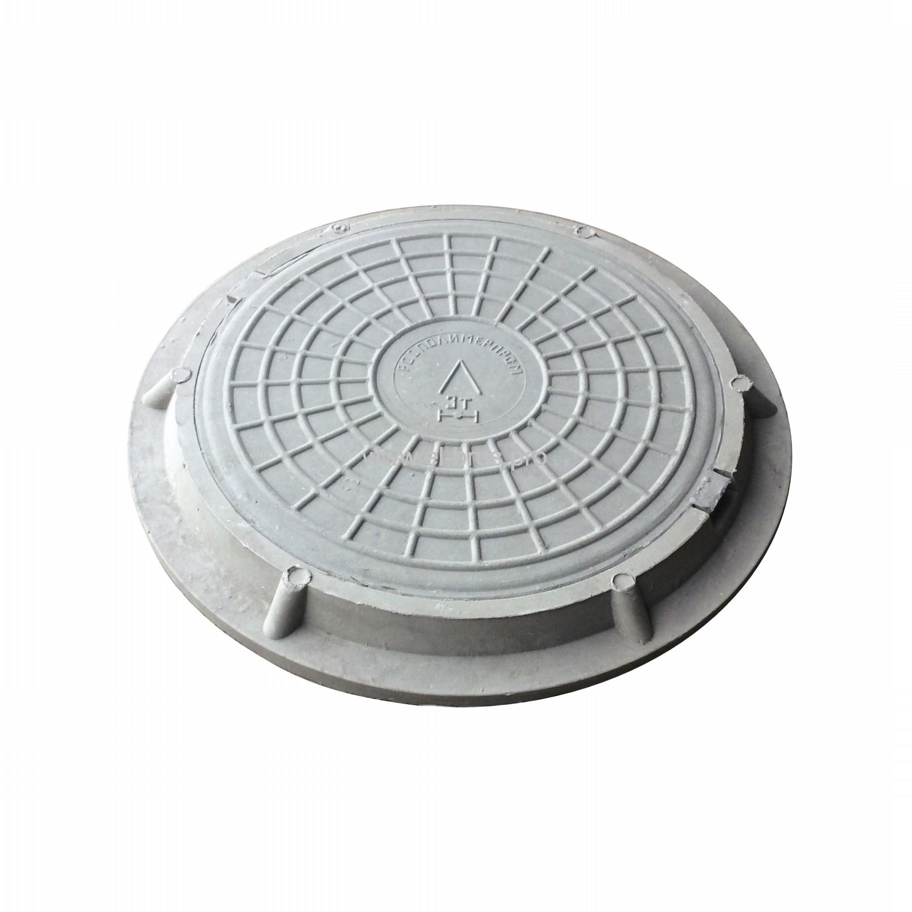 Люк полимерно-композитный Ø730х60мм серый