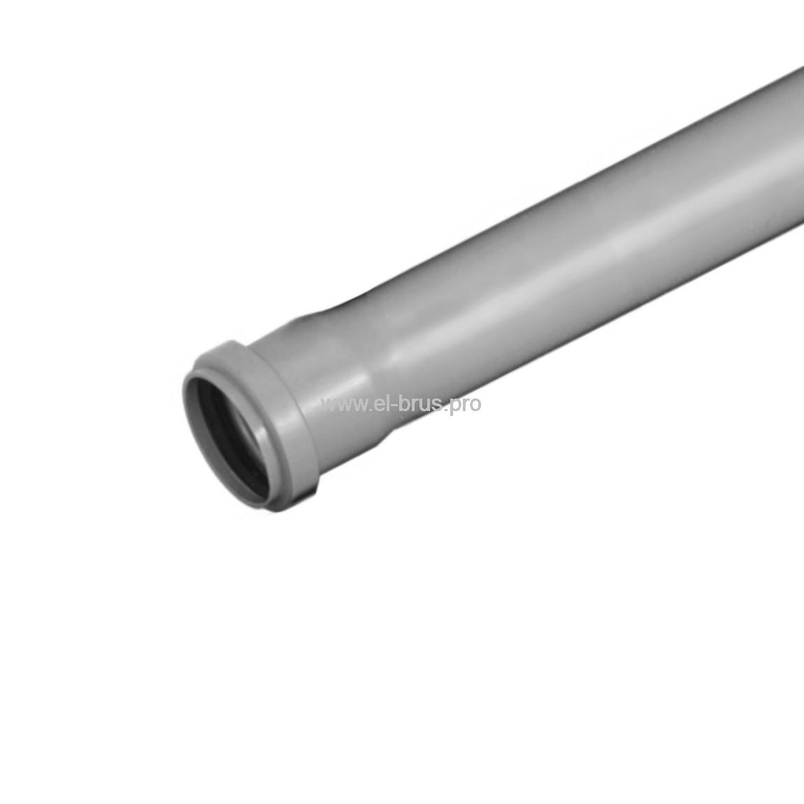 Труба с раструбом ПП  Ø50х1,8х1000мм ВК ПОЛИТЭК