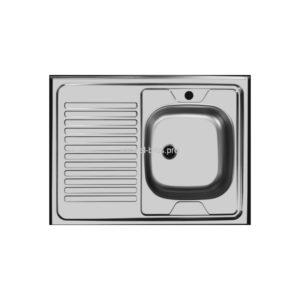 Мойка кухонная накладная 800х600мм прав. мат. хром UKINOX