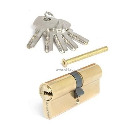 Цилиндровый механизм 70мм золото APECS SМ-70-G