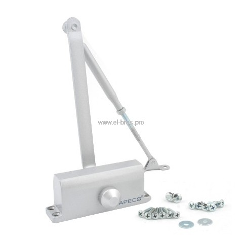 Доводчик дверной до  65кг серебро APECS