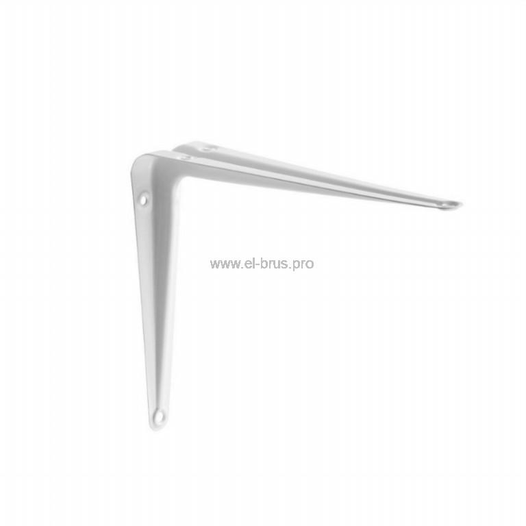 Уголок-кронштейн 100х125х0,7мм белый FIT
