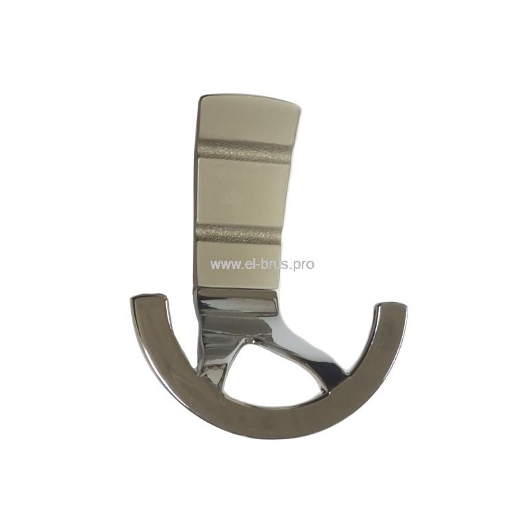 Крючок-вешалка 2-х рожковый никель/хром HDL