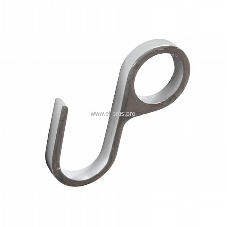 Крючок закрытый для рейлинга Ø15мм хром LOTTI  2шт