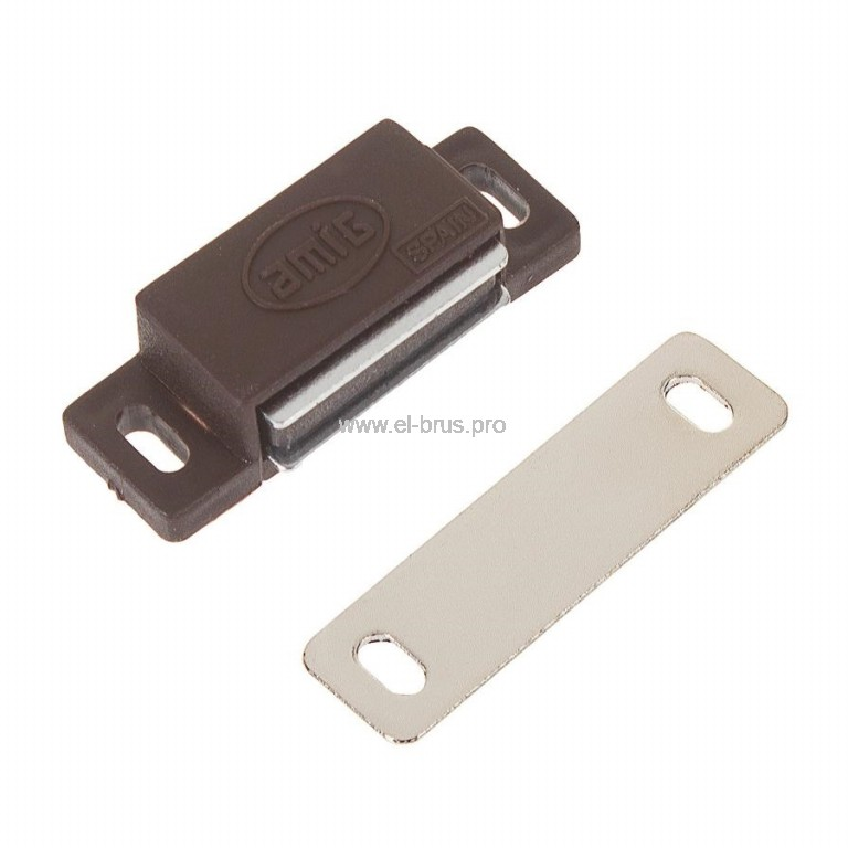 Мебельный магнит коричневый AMIG 30мм