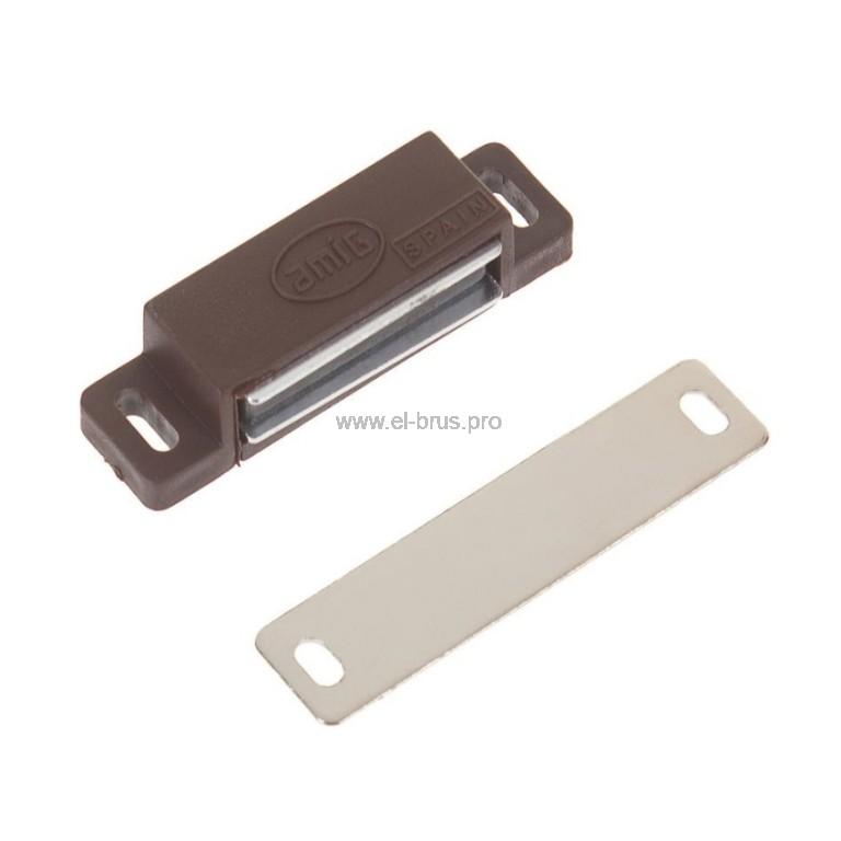 Мебельный магнит коричневый AMIG 40мм