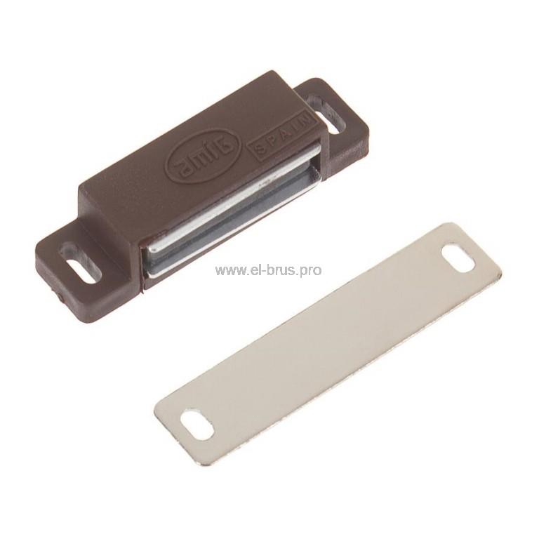 Мебельный магнит коричневый AMIG 50мм