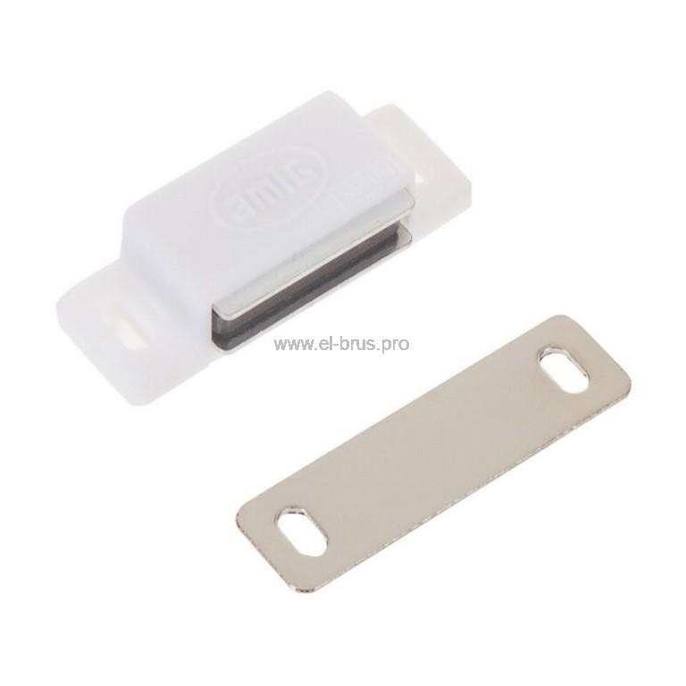 Мебельный магнит белый AMIG 30мм
