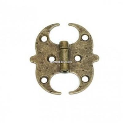 Петля декор. бронза антик AMIG 60х60х1,5мм