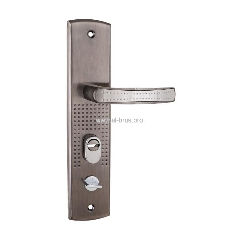 Комплект дверных ручек для китайских металл. дверей лев. АЛЛЮР