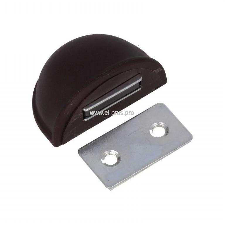 Упор дверной напольный магнит. 24мм коричн. AMIG 403-50