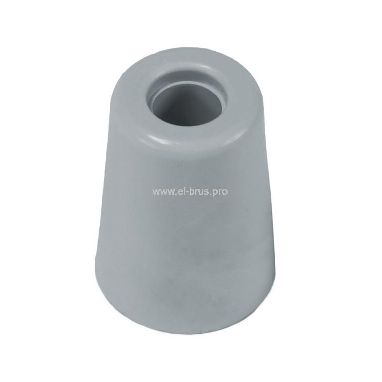 Упор дверной напольный резин. 35мм серый BRINOX