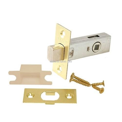 Задвижка врезная L-65мм золото APECS L-0126 GM