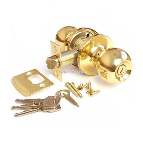 Защелка врезная с круг. ручками золото APECS 6072-01-G