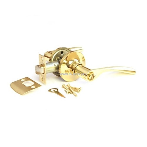 Защелка врезная с ручками золото APECS 8023-03-G