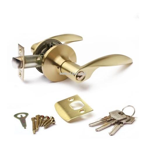 Защелка врезная с ручками матовое золото APECS 8020-01-GM