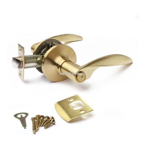 Защелка врезная с ручками матовое золото APECS 8020-03-GM