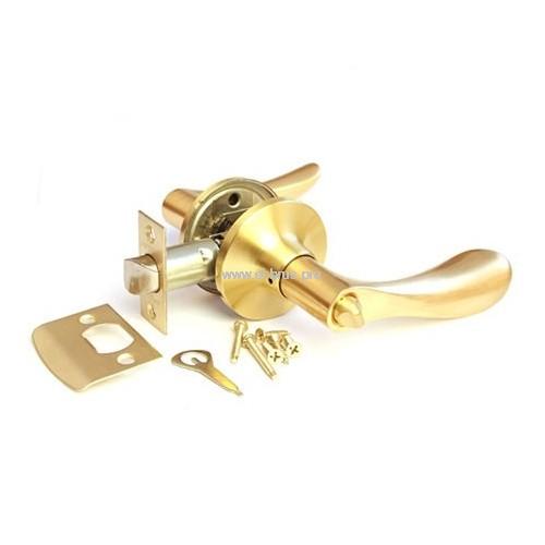 Защелка врезная с ручками матовое золото APECS 0891-03-GM