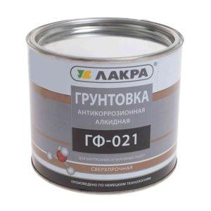 Грунт ГФ-021 красно-коричневый ЛАКРА 2,5кг