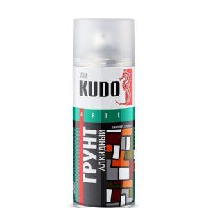 Грунт аэрозольный алкидный серый KUDO 520мл