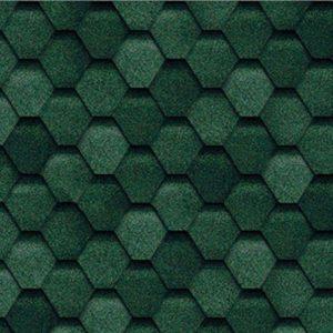Гибкая черепица зеленая ТЕХНОНИКОЛЬ Tilercat Прима 1000х317х3мм 3м²