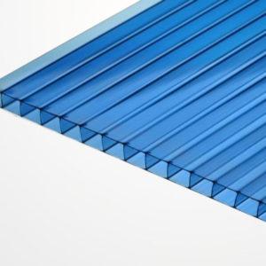 Сотовый поликарбонат синий 2100х6000х4мм