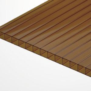 Сотовый поликарбонат коричневый 2100х6000х4мм