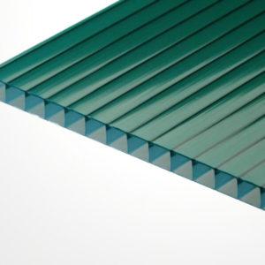 Сотовый поликарбонат зеленый 2100х6000х4мм