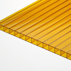 Сотовый поликарбонат оранжевый 2100х6000х4мм