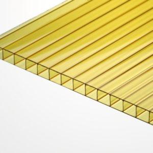 Сотовый поликарбонат желтый 2100х6000х4мм