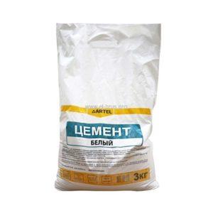 Цемент М600 белый АРТЕЛЬ 3кг