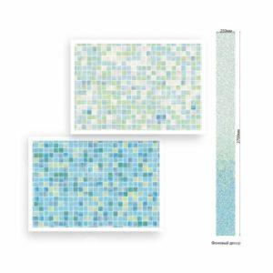 Панель ПВХ ламинированная Мозаика Бирюзовая ВЕК 2700х250х9мм